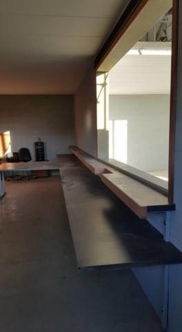 Réalisation d'un bureau dans un atelier - Mobilier sur mesure