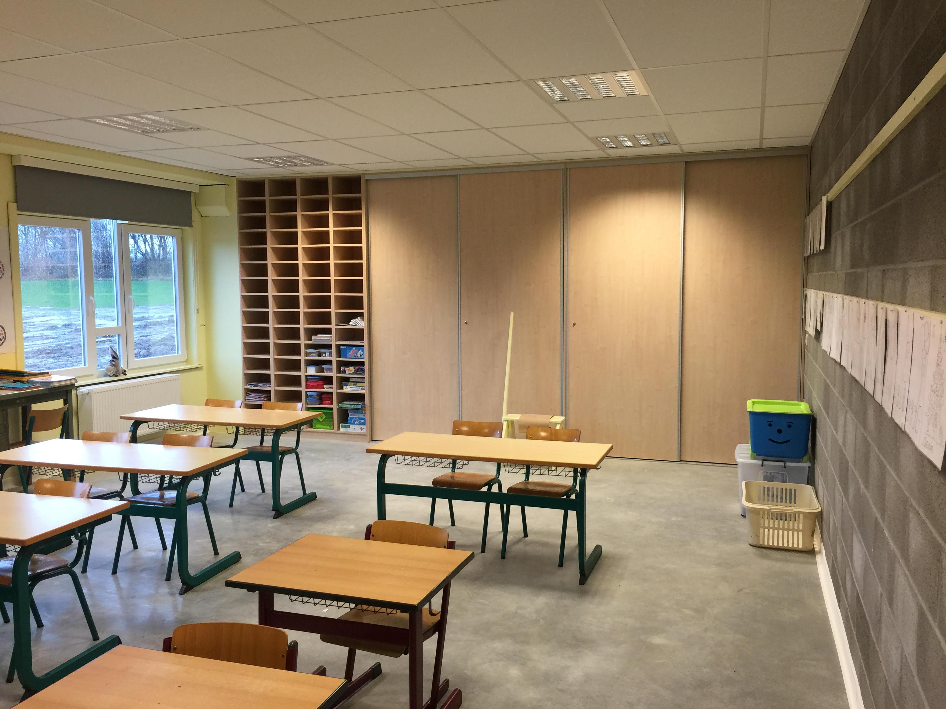 Meuble de rangement pour une école - Mobilier sur mesure