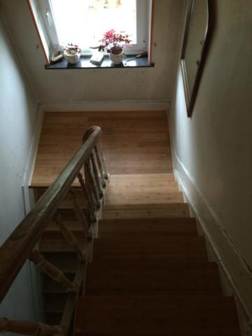 recouvrement d'escalier en bambou